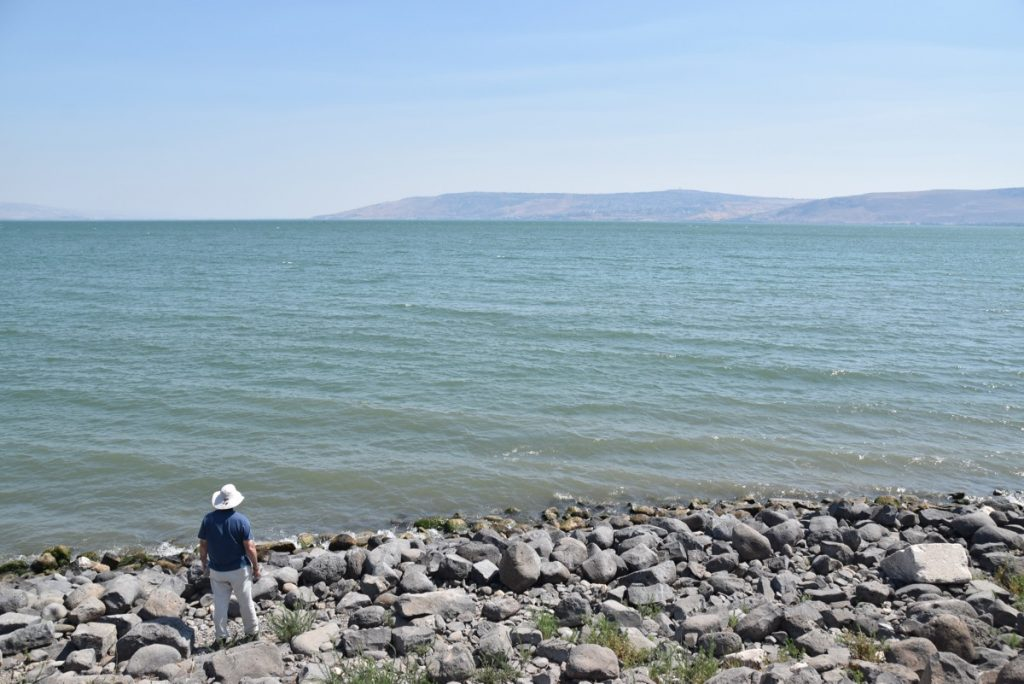 Capernaum shoreline June 2017 Israel Tour