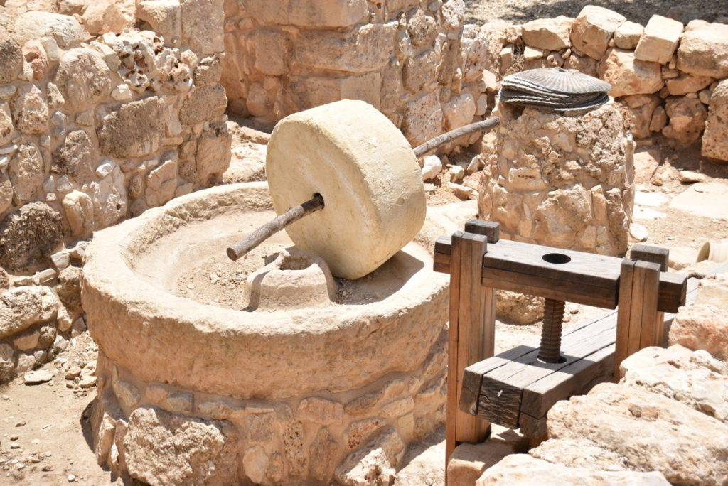 Shiloh oil press June 2017 Israel Tour