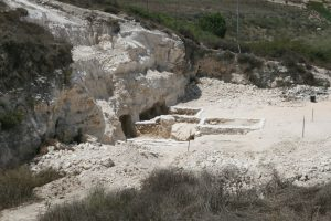 Excavation site of Cana stone jars
