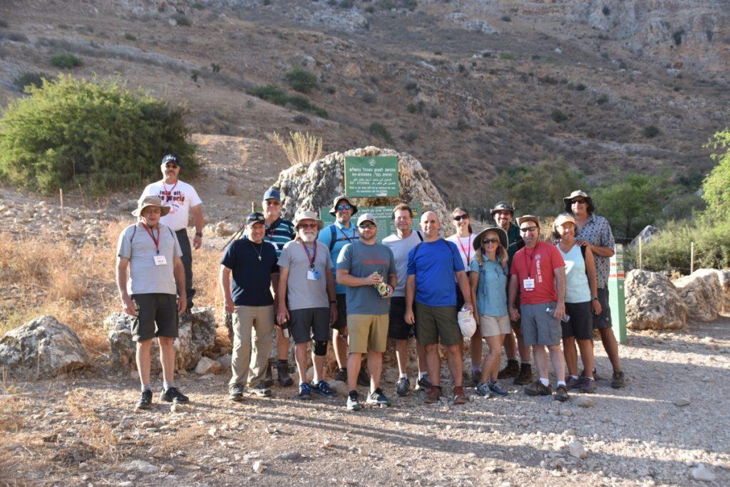 Hiking up Arbel September 2017 Israel Tour