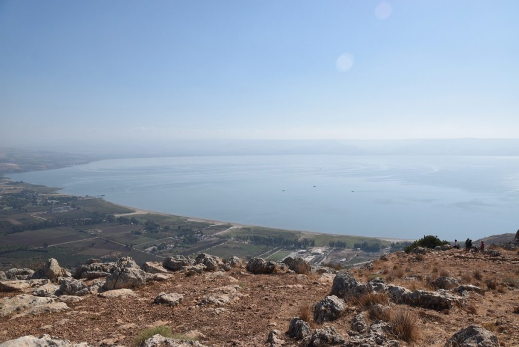 Sea of Galilee from Arbel September 2017 Israel Tour