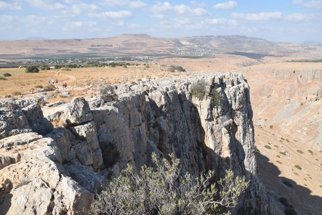 Hiking up Arbel September 2017 Israel Tour