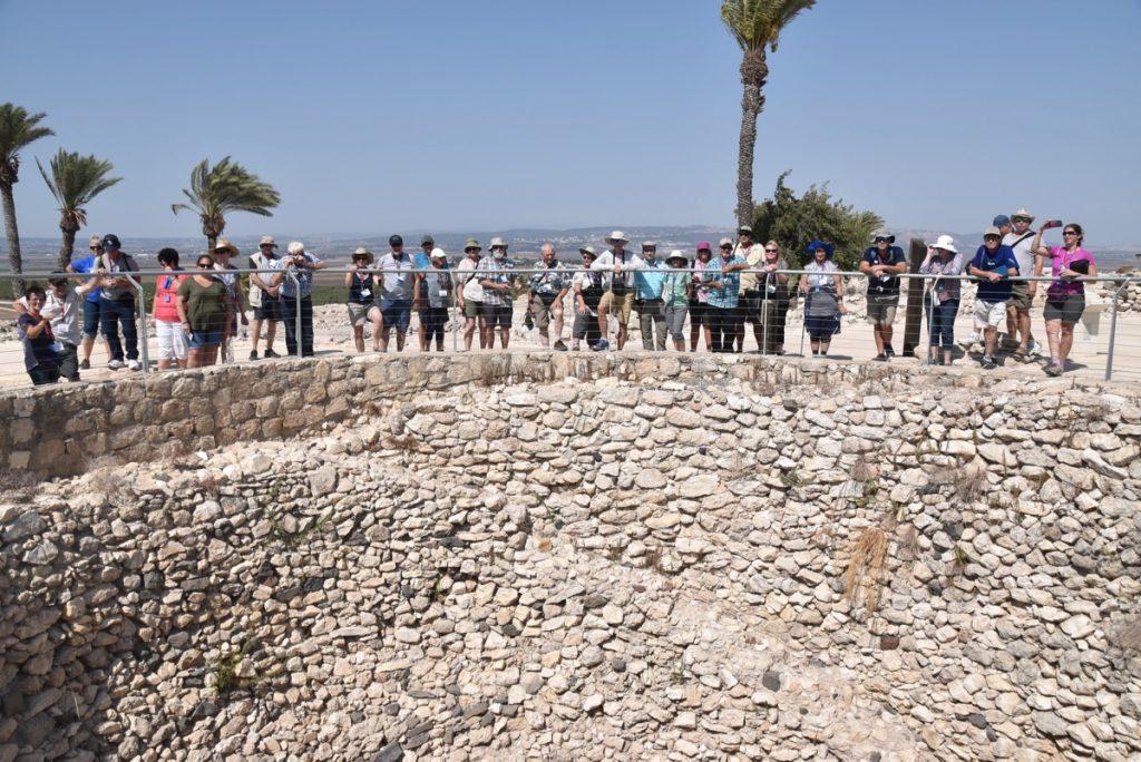 Megiddo grain bin Sept 2017 Israel Tour