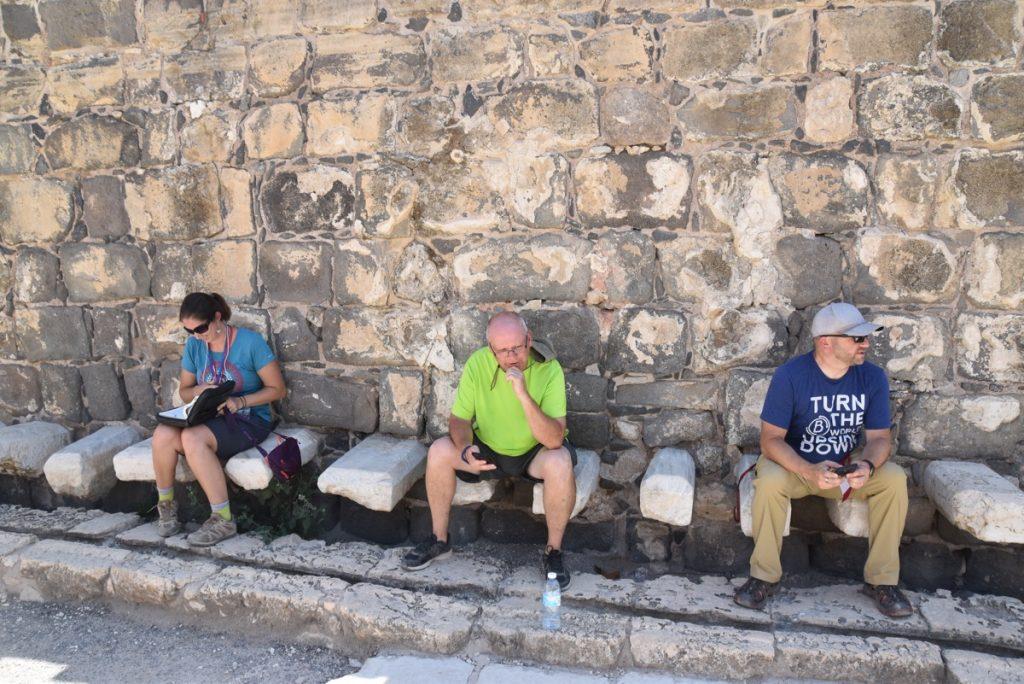 Beth Shean latrine September 2017 Israel Tour