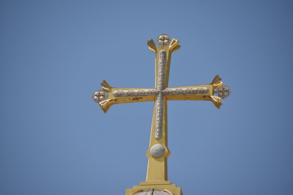 Holy Sepulcher Church cross September 2017 Israel Tour Group