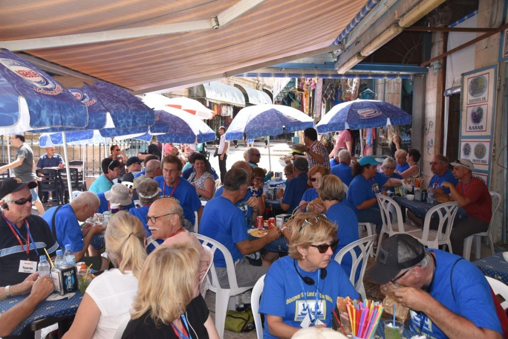 Lunch Jerusalem September 2017 Israel Tour Group