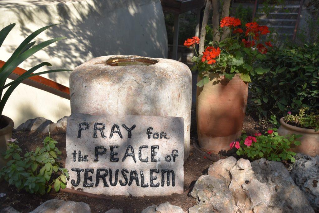 Pray for Peace of Jerusalem September 2017 Israel Tour Group