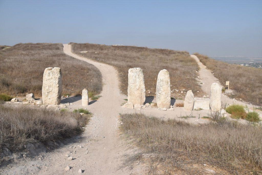Tel Gezer standing stones September 2017 Israel Tour