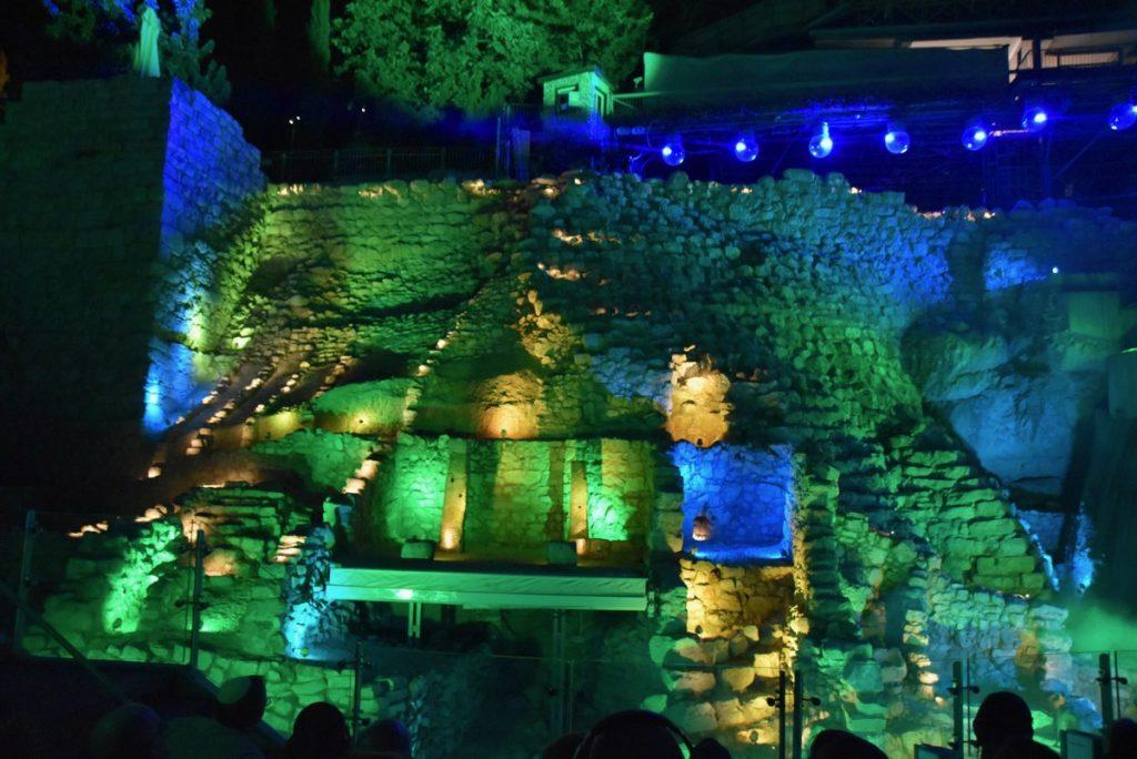 City of David light show September 2017 Israel Tour