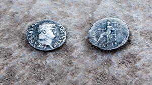 silver coins - Nero found at El Araj