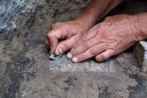 Mosaic floor at el Araj
