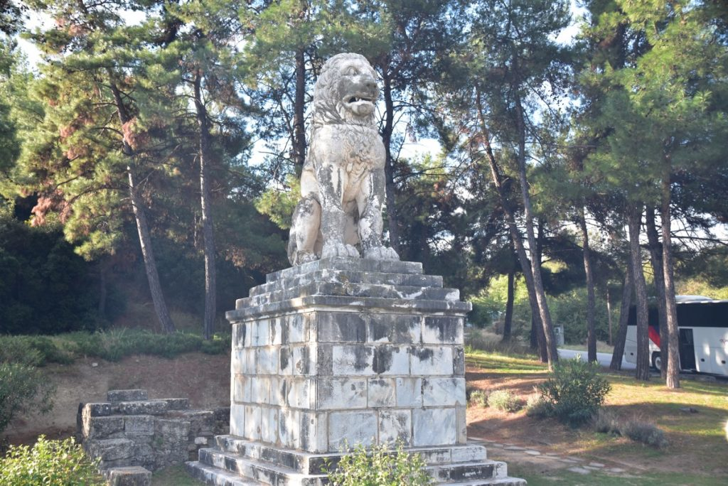 Lion statue 2017 Greece Tour