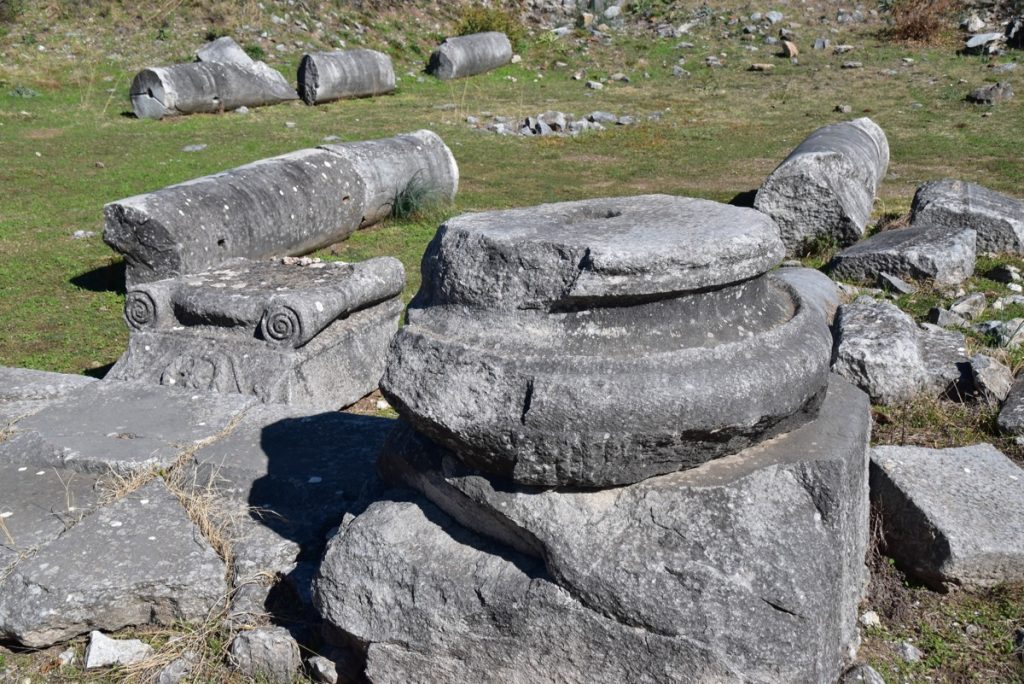 Philippi pillar base 2017 Greece Tour