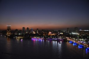 Sunset Nile River