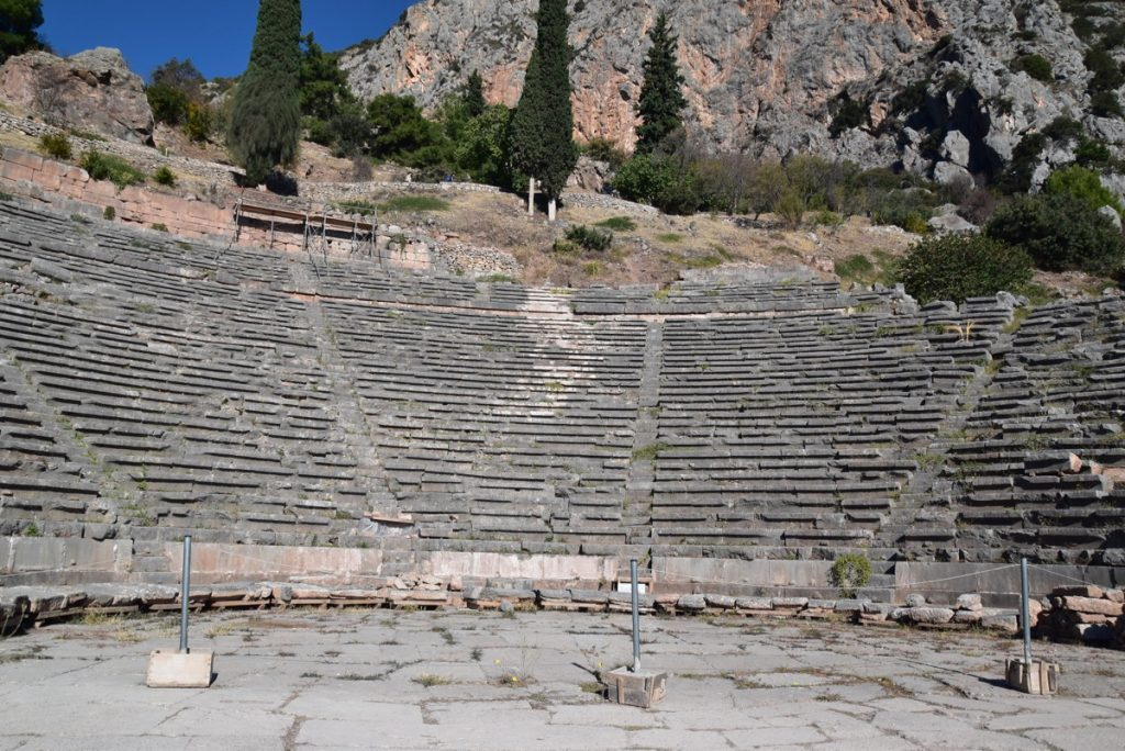 Delphi theater October 2017 Greece Tour - Dr. DeLancey