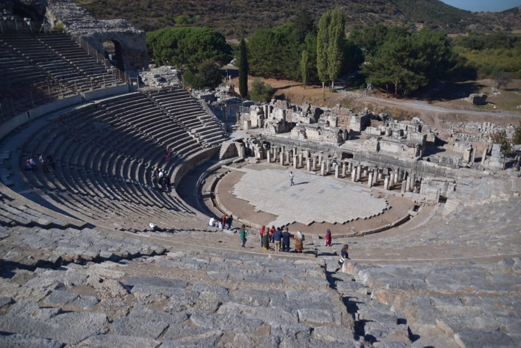 Ephesus Turkey theater October 2017 Greece Tour - Dr. DeLancey