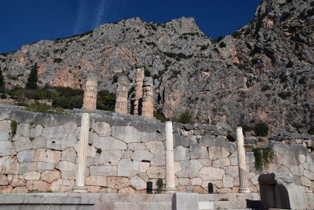 Delphi Temple of Apollo October 2017 Greece Tour - Dr. DeLancey