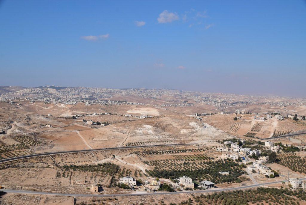 Herodium view of Jerusalem Oct-Nov Egypt-Jordan-Israel Tour