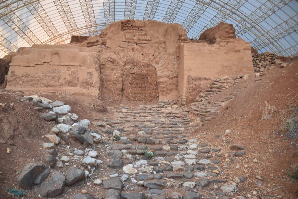 Tel Dan mud gate Oct-Nov Egypt-Jordan-Israel Tour with Dr. John DeLancey