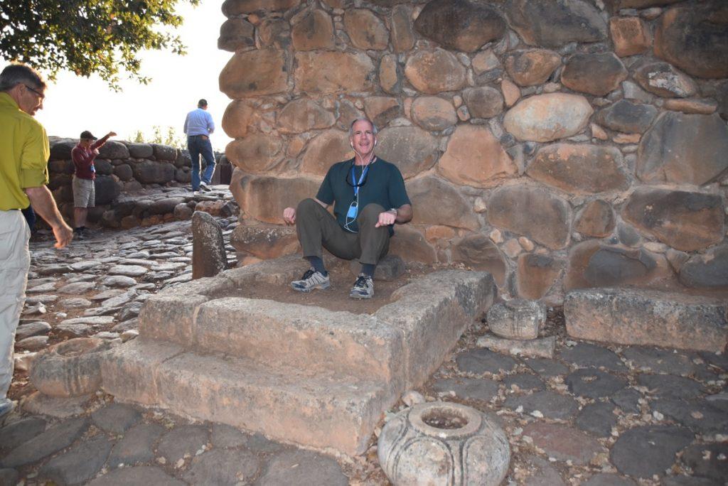 Tel Dan gate Oct-Nov Egypt-Jordan-Israel Tour with Dr. John DeLancey