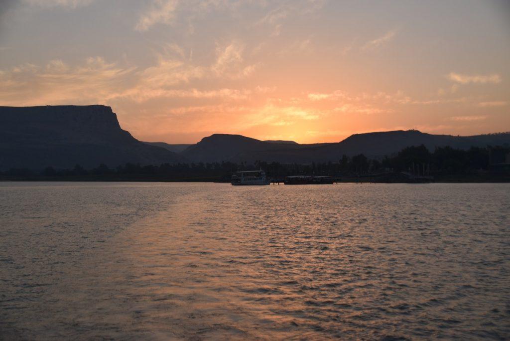 Sea of Galilee sunset Jordan River Oct-Nov-2017 Egypt-Jordan-Israel Tour