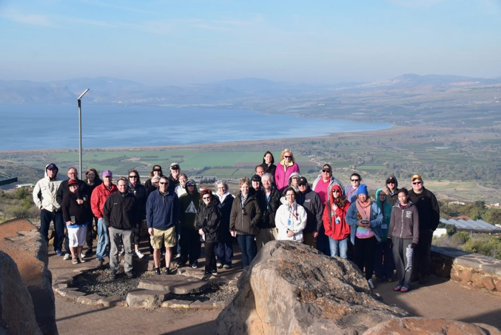 Sea of Galilee January 2018 Israel Tour Group with Dr. John DeLancey