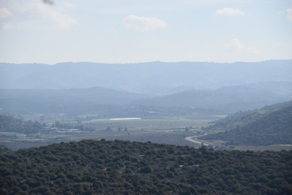 Elah Valley from Azekah January 2018 Israel Tour