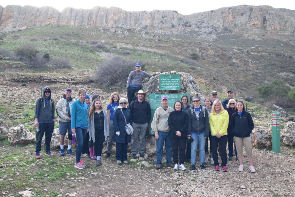 Hike up Mt. Arbel January 2018 Israel Tour Group with Dr. John DeLancey