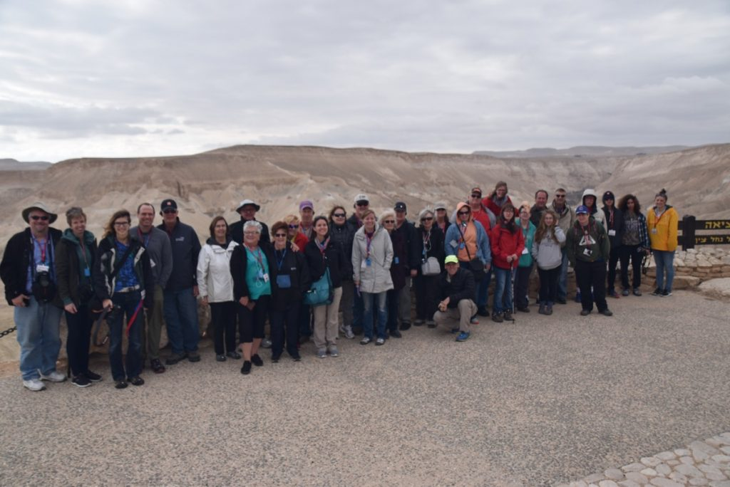 Desert of Zin January 2018 Israel Tour Group with Dr. John DeLancey