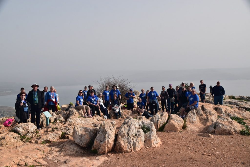 Mt. Arbel January 2018 Israel Tour Group with Dr. John DeLancey