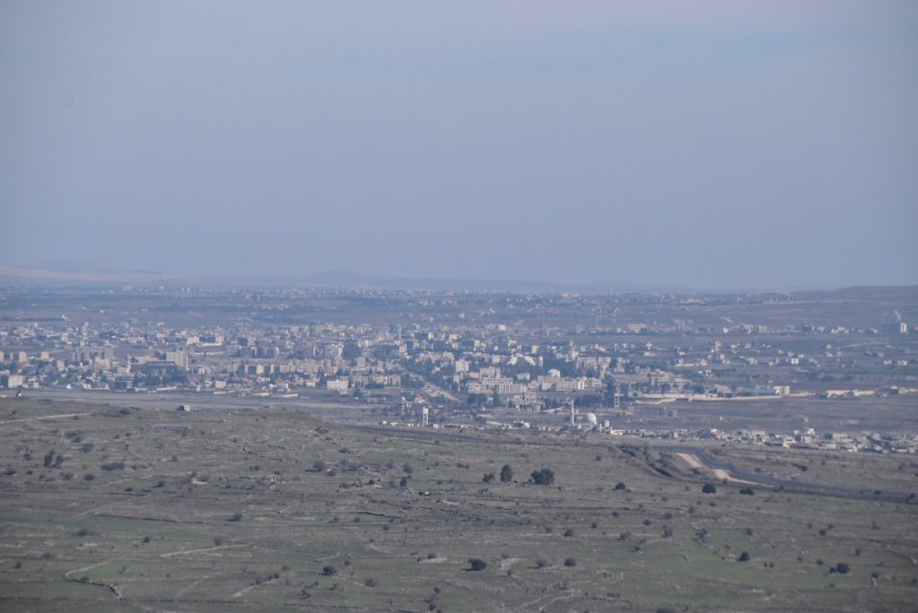 Bental IDF Kuneitra Syria border January 2018 Israel Tour