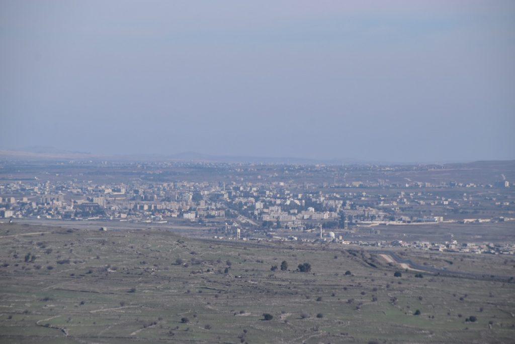 Bental IDF Kuneitra Syria border January 2018 Israel Tour