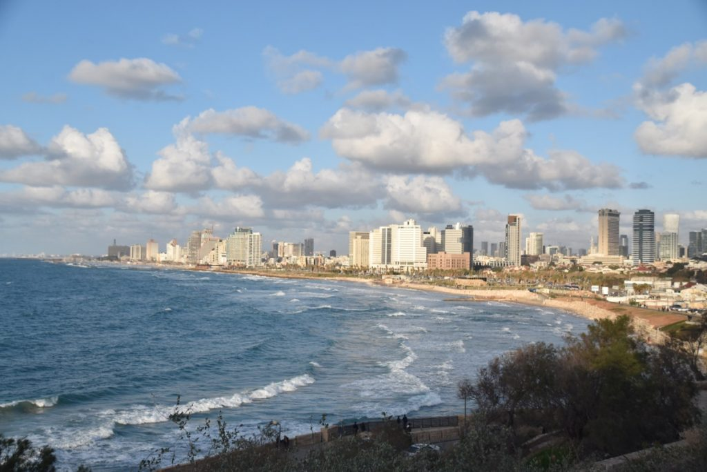 Tel Aviv coastline January 2018 Israel Tour