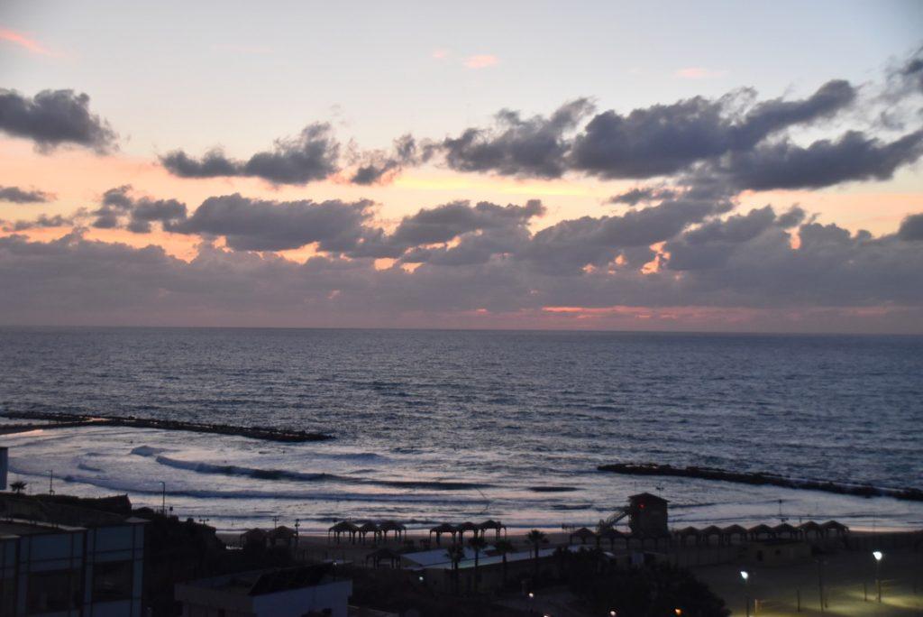 Sunset Med Sea Israel January 2018 Israel Tour