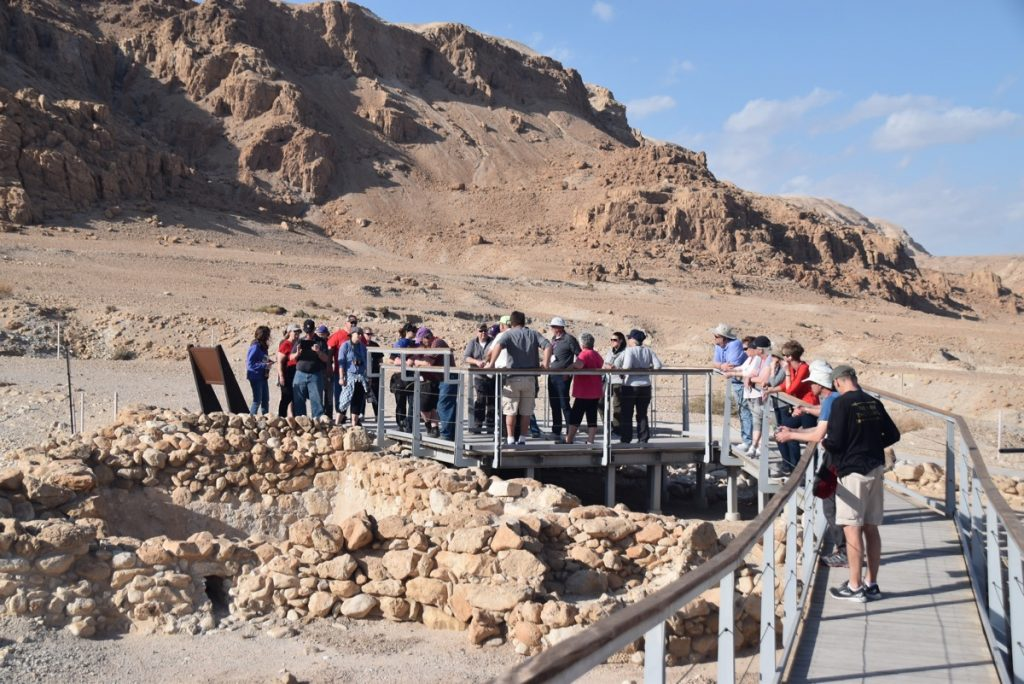Qumran January 2018 Israel Tour Group with Dr. John DeLancey