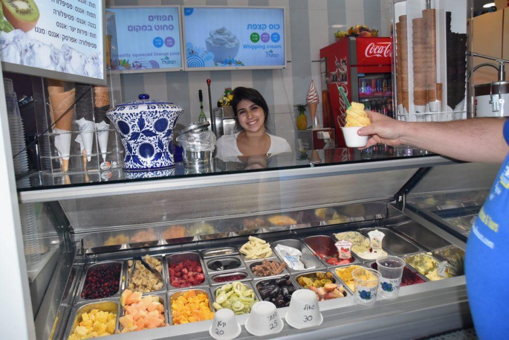 Tiberias Mall ice cream January 2018 Israel Tour