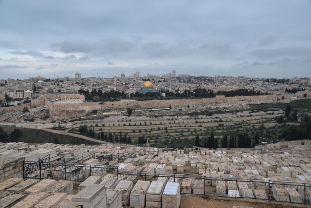 Jerusalem from Mt. of Olives January 2018 Israel Tour