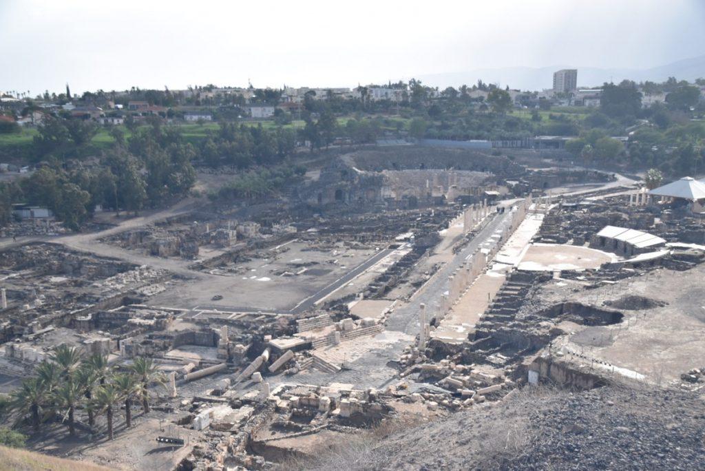 Beth Shean roman city January 2018 Israel Tour