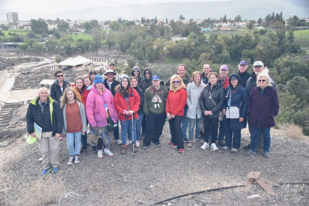 Beth Shean January 2018 Israel Tour Group with Dr. John DeLancey