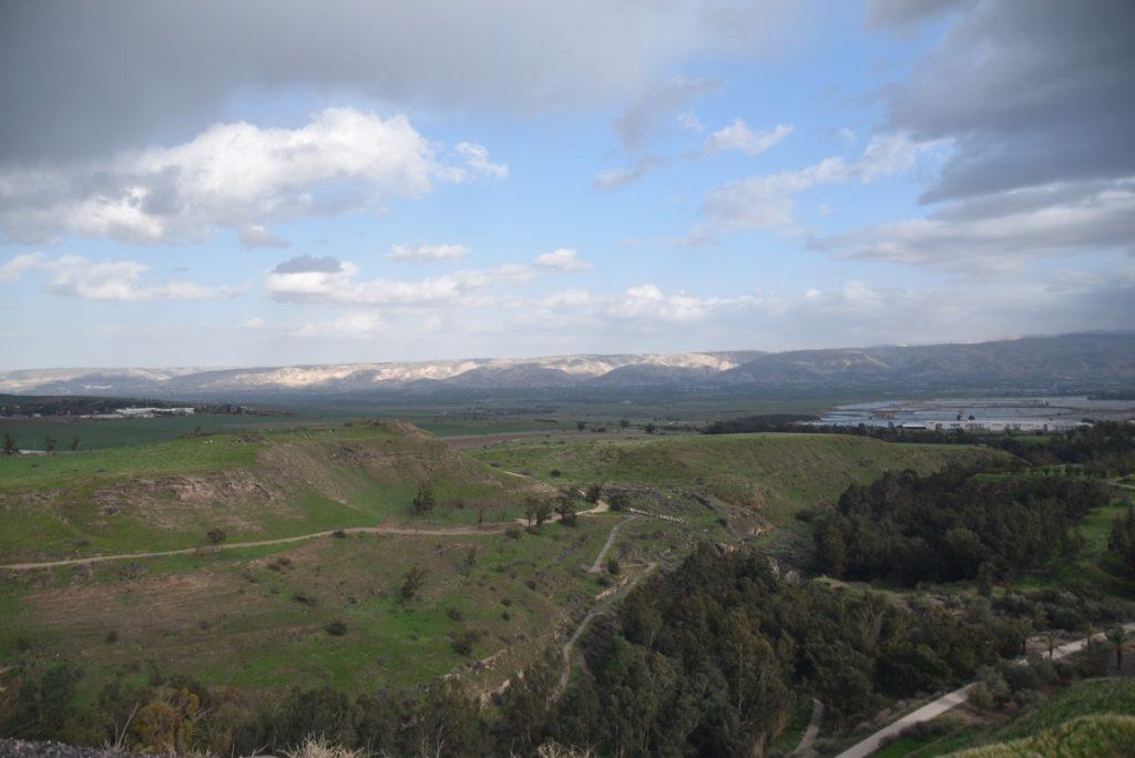 Beth Shean Jordan valley January 2018 Israel Tour