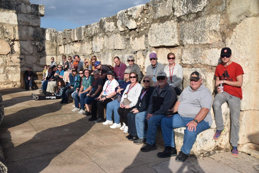 Capernuam January 2018 Israel Tour Group with Dr. John DeLancey