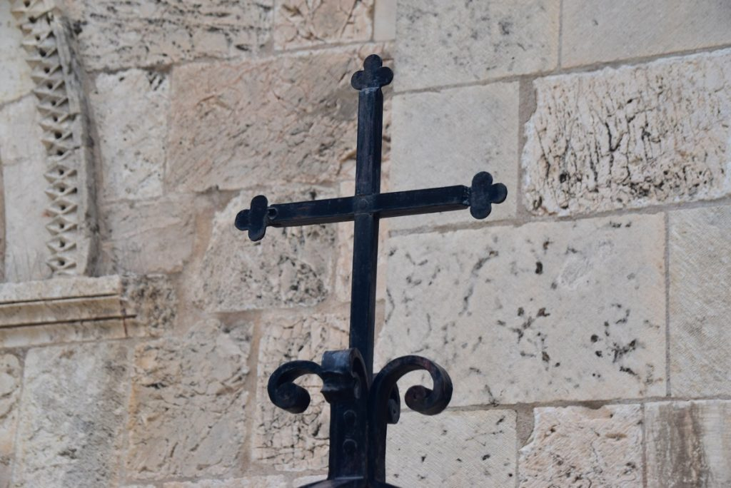 cross St. Anne's church Jerusalem January 2018 Israel Tour