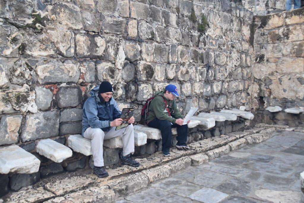 Beth Shean latrene January 2018 Israel Tour