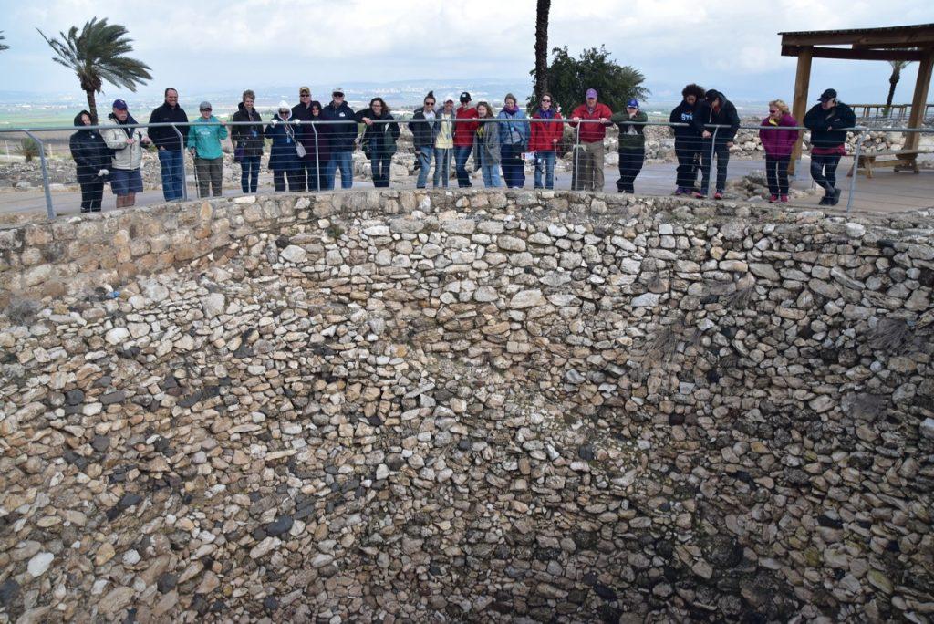 Tel Megiddo grain silo January 2018 Israel Tour