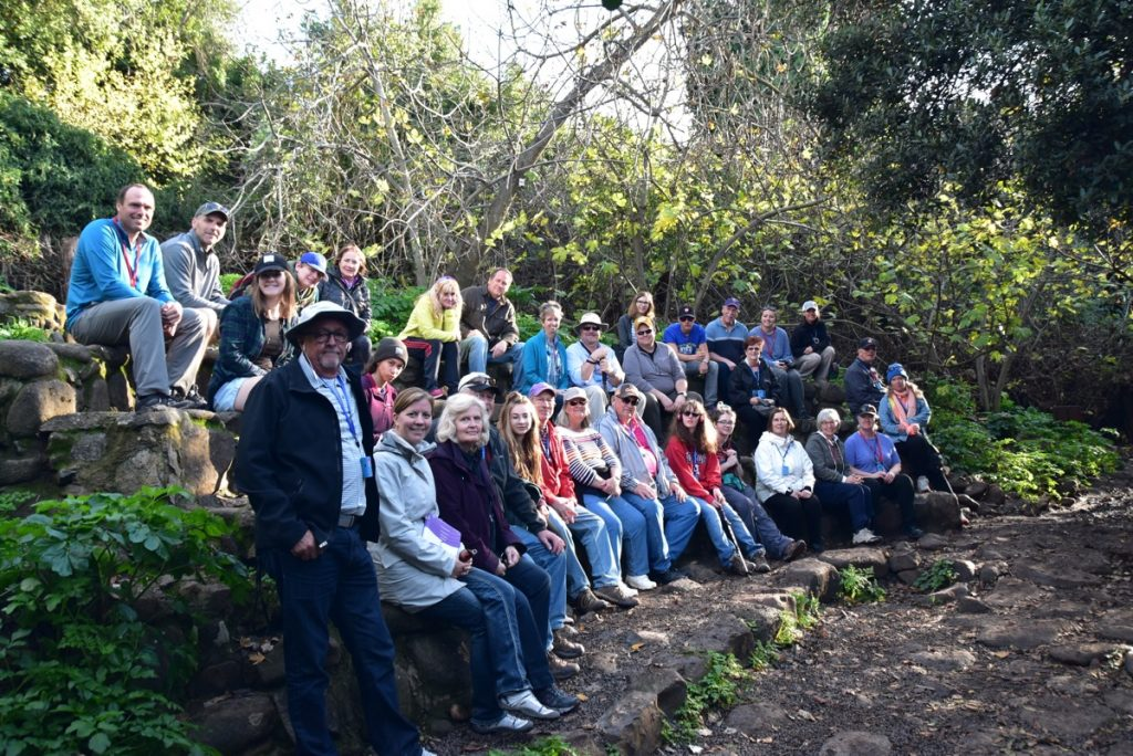 Tel Dan January 2018 Israel Tour Group with Dr. John DeLancey