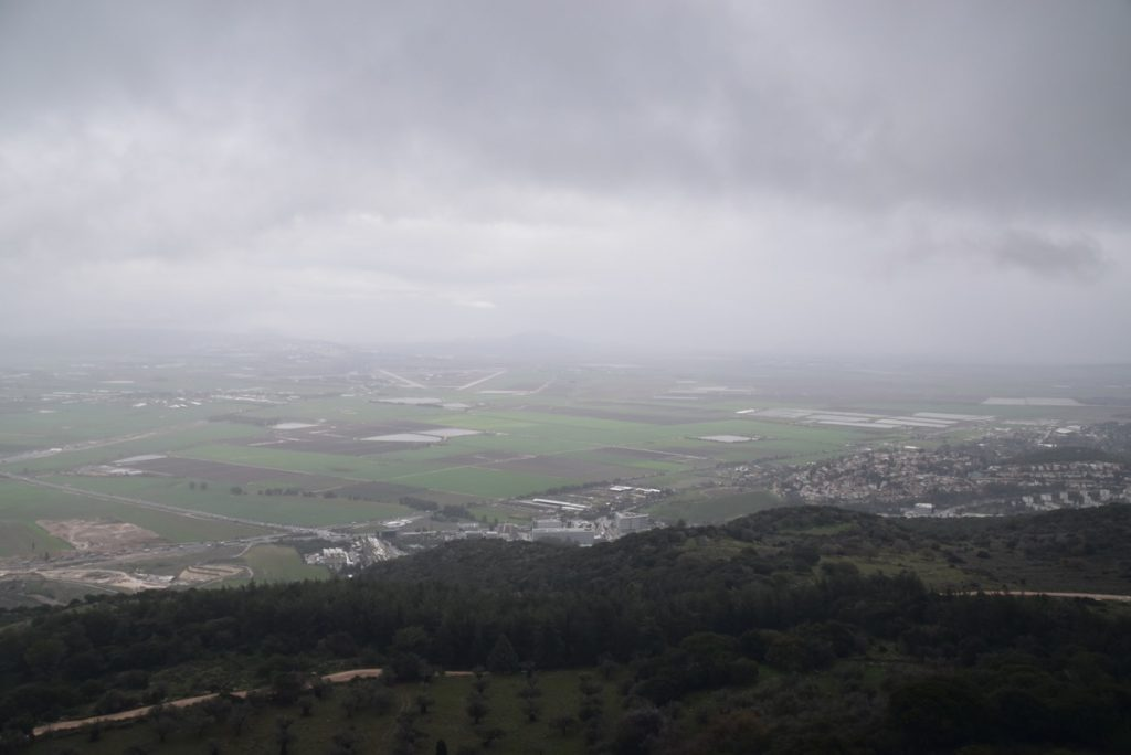 Jezreel Valley from Mt. Carmel January 2018 Israel Tour