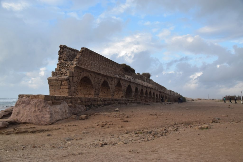 Caesarea aqueduct January 2018 Israel Tour