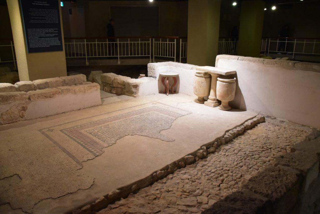 Herodian mansion Jerusalem January 2018 Israel Tour