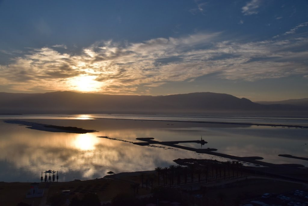 Sunrise Dead Sea February 2018 Israel Tour with John DeLancey