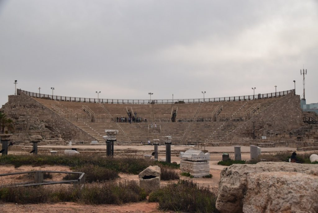 Caesarea Theater February 2018 Israel Tour with John DeLancey